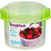 Cutie de gustare Sistema Breakfast To Go 530ml verde deschis