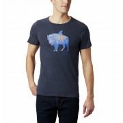 Pánské triko Columbia M Piney Falls Graphic Tee albastru închis