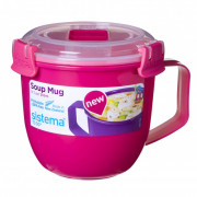 Hrnek Sistema Microwave Small Soup Mug Color roz