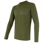 Pánské triko Sensor Merino Wool Active PT Track dl.r. verde