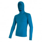 Tricou funcțional bărbați Sensor Merino DF cu glugă albastru modrá