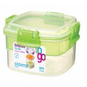 Box na potraviny Sistema Snacks TO GO 400ml verde