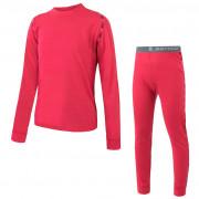 Set lenjerie copii Sensor Merino Air bluză +colanți roz magenta