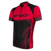 Tricou ciclism bărbați Sensor Cyklo Team Up negru/roșu