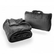Pătură de călătorit Cabeau Fold 'n Go Blanket - Cabeau Blue negru