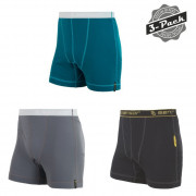 Chiloți bărbați Sensor Double Face 3-pack negru/gri černá+safír+šedá