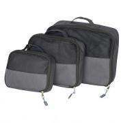 Cestovní organizér Bo-Camp Travel Pack Cubes 3 velikosti negru
