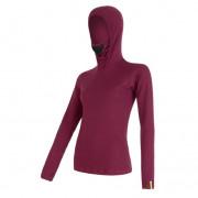 Tricou femei cu glugă Sensor Merino DF violet lilla