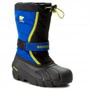 Încălțăminte de iarnă copii Sorel Youth Flurry DTV albastru/galben