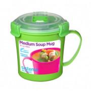 Cană Sistema Microwave Medium Soup Mug verde
