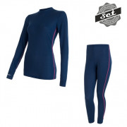 Set femei Sensor Original Active tricou + indispensabili albastru