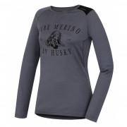 Tricou funcțional femei Husky Merino 100 Puppy(mânecă scurtă) gri