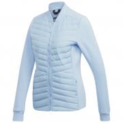 Geacă femei Adidas Varilite Hybrid albastru deschis