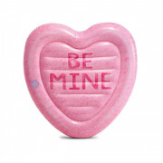 Saltea gonflabilă Intex Candy Heart Island roz