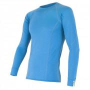 Tricou funcțional bărbați Sensor Merino Wool Active mânecă lungă albastru deschis