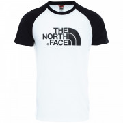 Pánské triko The North Face M S/S Raglan Easy Tee alb/negru