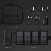 Set solární nabíječky a powerbanky Outxe W20 Outdoor Charger Kit negru