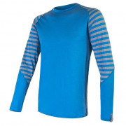 Tricou funcțional bărbați Sensor Merino Active mânecă lungă albastru