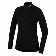 Tricou damă funcțional Husky Merino (cu fermoar și mânecă lungă) negru negru černá
