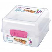 Cutie de prânz Sistema Lunch Cube To Go 1,4L roz