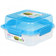 Box na potraviny Sistema Square Lunch Stack TO GO 1,24l albastru