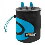 Săculeț la magneziu Rock Empire Chalk Bag Spiral negru/albastru černo-azurová