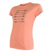 Tricou funcțional femei Sensor Coolmax Fresh Săgeți m.s. portocaliu apricot