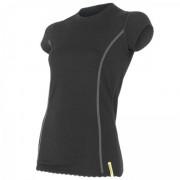 Tricou femei Sensor  Merino Wool Active mânecă scurtă negru černá