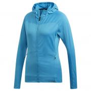 Hanorac femei Adidas Trace Rocker Hooded Fleece albastru