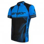 Tricou ciclism bărbați Sensor Cyklo Team Up negru/albastru