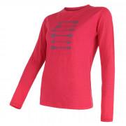 Tricou femei Sensor Merino Wool PT Săgeată m.l. roz magenta