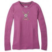 Tricou femei Smartwool W Merino Sport 150 Powder Flower Ls Tee roz
