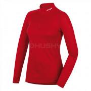Tricou damă funcțional Husky Merino (cu fermoar și mânecă scurtă) roșu