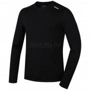 Tricou bărbați funcțional Husky Merino (mânecă lungă negru)