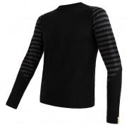 Tricou funcțional bărbați Sensor Merino Air mânecă lungă negru/gri