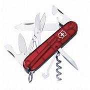 Cuțit Victorinox Climber roșu transparent trans red