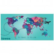 Prosop cu uscare rapidă Towee Travel The World 80x160 cm culori mix