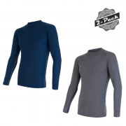 Tricou bărbați Sensor Original Active 2 buc. albastru/gri modrá+šedá