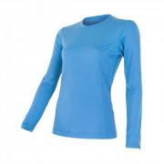 Tricou femei Sensor Merino Wool Active mânecă lungă albastru deschis modrá