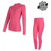 Set femei Sensor Original Active tricou + indispensabili roz