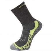 Ponožky Progress P XTR 8MR X-Treme Merino gri/verde tm.šedá/zelená