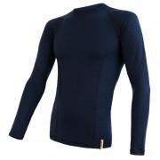 Tricou funcțional bărbați Sensor Merino DF mânecă lungă albastru