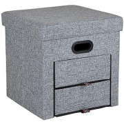 Cutie scaun Bo-Camp Holborn Ottoman gri grey