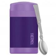 Termos pentru mâncare cu lingură copii Thermos Funtainer violet