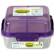Box na potraviny Sistema Square Lunch Stack TO GO 1,24l violet