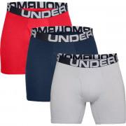 Boxeri bărbați Under Armour Charged Cotton 6in 3 Pack roșu