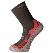 Ponožky Progress P XTR 8MR X-Treme Merino negru/roșu