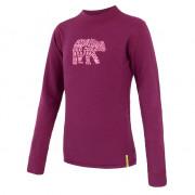 Tricou funcțional copii Sensor Merino DF Bear violet lilla