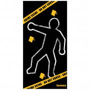 Prosop cu uscare rapidă Towee Crime Scene 80x160 cm negru/galben