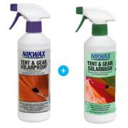 Set de impregnare și curățare Nikwax Tent & Gear 500 ml